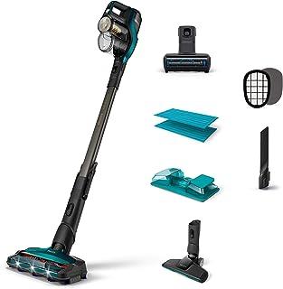 Philips SpeedPro MAX Aqua+ Aspirador inal?mbrico con funci?n de Limpieza, pl?stico, Azul