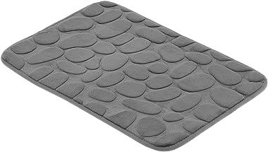 Doormat, 23.4 × 15.9in Household Stone Pattern Absorbent Soft Floor Mat for Kitchen(Grey)