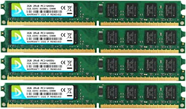 DUOMEIQI 8GB Kit (4 X 2GB) 2RX8 DDR2 800MHz UDIMM PC2-6300 PC2-6400 PC2-6400U CL6 1.8v (240 PIN) Non-ECC Unbuffered Desktop Memory RAM Module Compatible with Intel AMD System