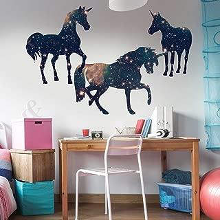 Chromantics Space Unicorn Wall Decal Set Unicorn Silhouette Decal