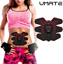 UMATE Muscle Toner, EMS Ab Trainer, Abdominal Toning Belts, Gym Workout and Home Fitness Apparatus Ultra Light &Thin for Abdomen/Arm/Leg/Waist Fitness Training Slimming Machine