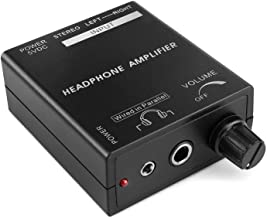 TNP Portable Headphones Amplifier Stereo Headphone Earphone Amp Volume Control Audio Booster with RCA Input 3.5mm 6.3mm Ou...