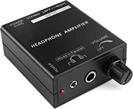 TNP Portable Headphones Amplifier Stereo Headphone Earphone Amp Volume Control Audio Booster with RCA Input 3.5mm 6.3mm Output Jack & Power Switch