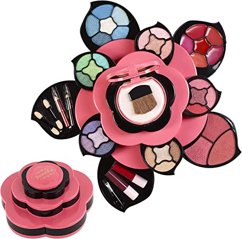 Makeup Kits for Teens - Flower Make Up Pallete Gift Set for Teen Girls and Women - Petals Expand to 3 Tiers -Variety ...