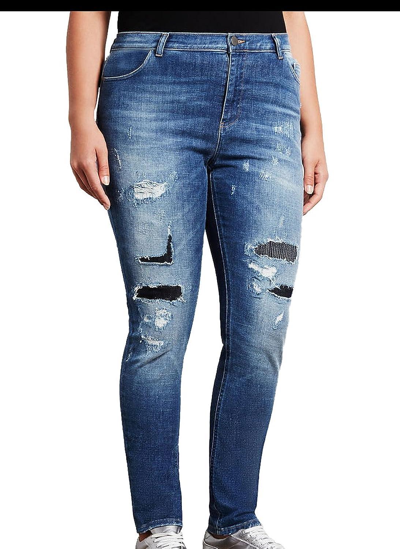 Marina Rinaldi Women's Ibisco Distressed Jeans Medium Wash