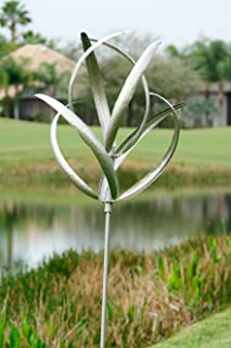 Marshall Home and Garden Cheyenne Wind Spinner, Silver
