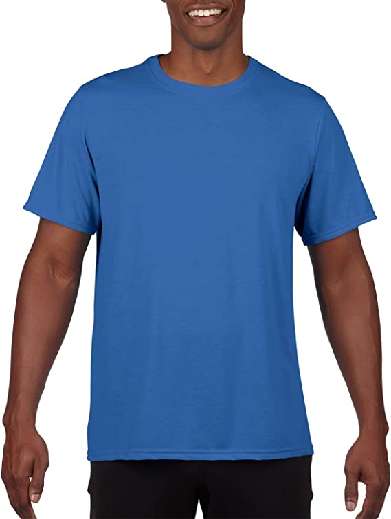 XX-Large Gildan Mens 100/% Polyester Moisture Wicking Performance T-Shirt Royal