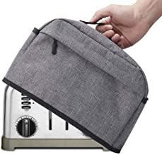 4 Slice Toaster Cover with Zipper & Open Pockets Kitchen Small Appliance Cover with Handle, Toaster Dust CoverCan Hold Jam...