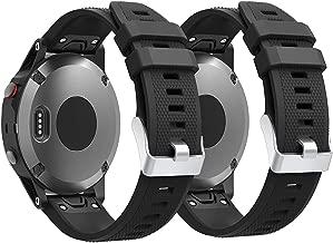 Junboer Compatible Garmin Fenix 5 Straps Band, Easy Fit 22mm Width Soft Silicone Watch Bands Sport Replacement for Garmin Fenix 5/Fenix 5 Plus/Forerunner 935/Fenix 6/Fenix 6 Pro (Not Fit Fenix 5X 5S)