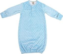 Sleeper Gown Minky Dot Blue