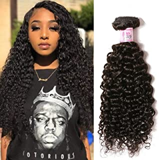 Beauty Forever Top Quality 8A Malaysian Jerry Curly Hair 1 Bundle Unprocessed Human Virgin Curly Hair Weave Natural Color (12 inch)