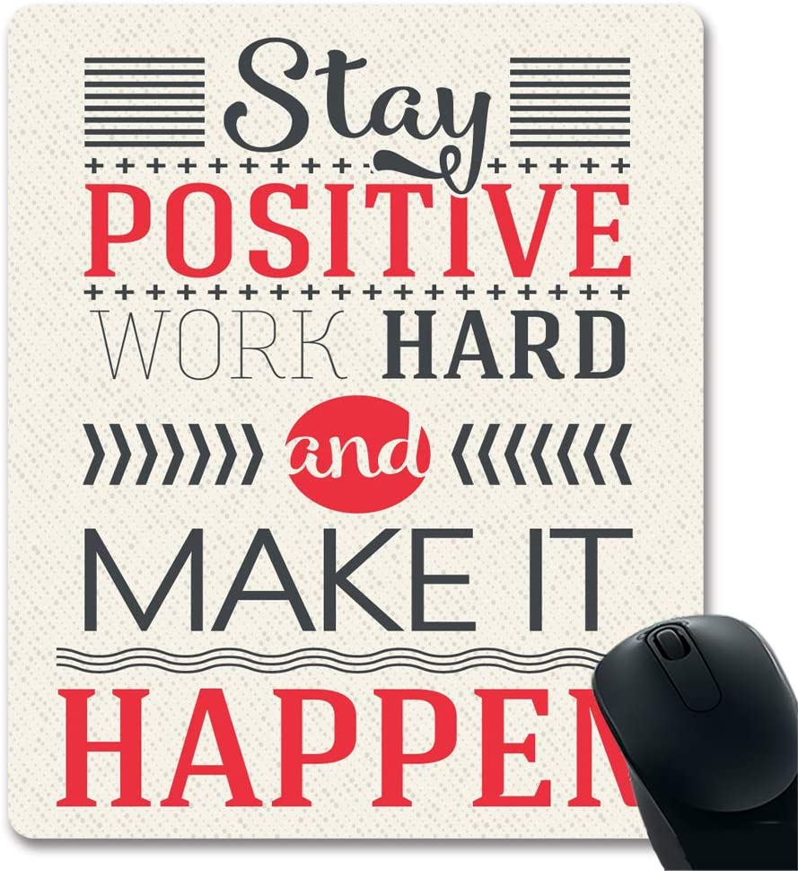 Stay Positive Challenge the lowest price of Japan ☆ Work Hard and Make Happen Sign Motivational It 2021new shipping free Ins