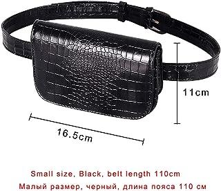 Vintage Waist Bag Women Alligator PU Leather Belt Bag Waist Pack Travel Belt Wallets Fanny Bags Ladies Fit 5.5 inches phones