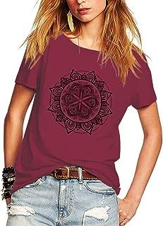 Womens Magical Pattern Shirts Short Sleeve T-Shirt Casual Summer Top Tee
