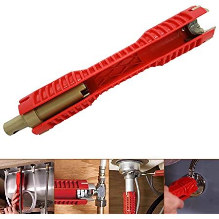 Praktische Hahn-Wannen-Installer K/üche Badezimmer Rohrschl/üssel-Installations-Tool Multifunktions-Rohrzange