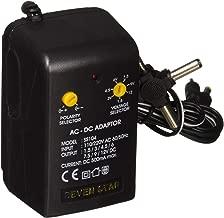 Seven Star 1.5V, 3V, 4.5V, 6V, 7.5V, 9V, 12V DC, 500mA Regulated Universal AC to DC Converter with Multiple Connector Ends
