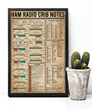 HolyShirts Ham Radio Crib Notes Poster (16 inches x 24 inches)