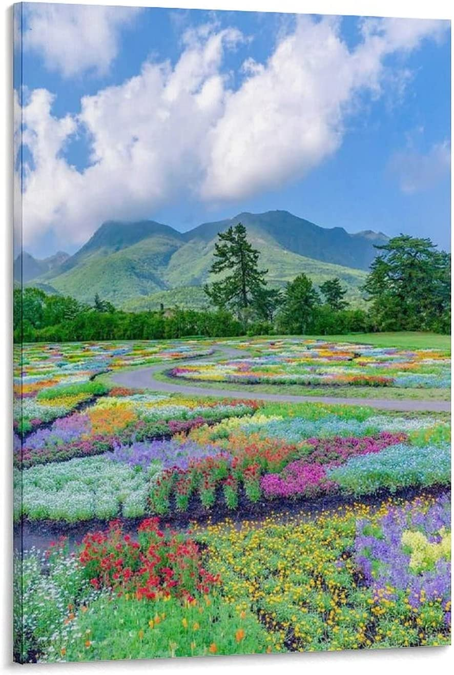 Limited price sale ANSH Beautiful Sea of Flowers Art Selling Illustration Poster Canvas