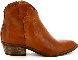 LEONARDO SHOES Luxury Fashion Womens Z122AMERICABROWN Brown Ankle Boots | Season Permanent