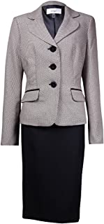 Le Suit Women 's Monte Carlo Honeycomb Patternedスカートスーツ