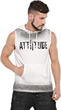 ATTIITUDE White Sleeveless Hoodie with Spray