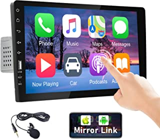 $112 » Camecho Single Din Car Stereo Radio Full HD Touch Screen Monitor 9 Inch Mirror Link MP5 Multimedia Car Player with Bluetoo...