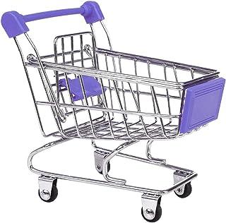 MagiDeal Mini Imitation Games Learning Mini Shopping Cart Children Color Purple