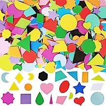 1035 Pcs 15 Colors 3 Sizes 22 Shape Bulk Foam Stickers Self-Adhesive Foam Geometry Shapes Stickers Assortment Craft Suppli...
