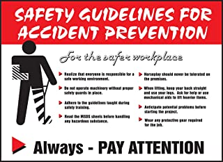 Accuform PST211 Safety Awareness Poster,