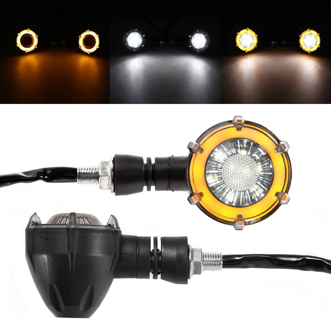 INNOGLOW Max 41% OFF Motorcycle Turn Signal White Sequence Amber Minneapolis Mall LED Indicat