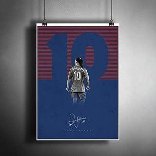 Ronaldinho Barcelona FC Art Poster Photo Print Decor FIFA Soccer Football Fanart Artwork (A3 Size (297×420 mm (11,7×16,5 inches))
