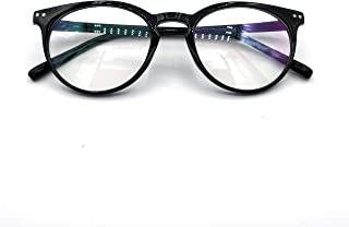 GO EYEWEAR Unisex Blueray UV Pritected Computer Glasses in Black Frame (2283, 52, Tranparent)