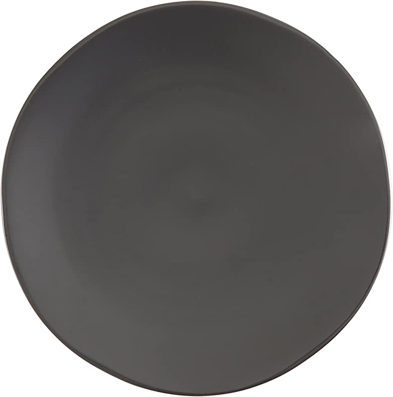 Fortessa Vitraluxe Dinnerware Heirloom Matte Finish Salad Plate 8 Inch Charcoal Set Of 4