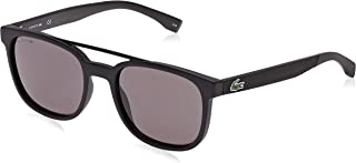 Lacoste Rectangular Sport Inspired Matte Black Sunglasses For Men 54-19-145mm