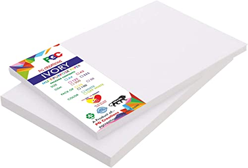 PG Creations A3 Size, 300 GSM Smooth Finish Ivory Drawing Paper Sheets (White, 16.5 Inch x 11.75 Inch) - Combo Pack o...