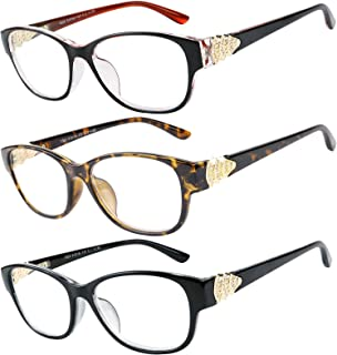 Reading Glasses 3 Pack Great Value Quality Readers Fashion Crystal design reading glasses Women
