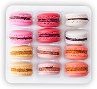 12 Macarons Set - French Cookies Mix - Macaroons Made in USA by French Chefs - 12 Flavors Assortment