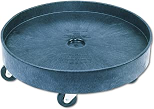 Rubbermaid Commercial RCP 2650 BLA Black Brute Container Universal Drum Dolly, 500 lb.