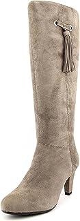 حذاء برقبة طويلة لركوب الخيل من Bandolino مصنوع من جلد الغزال BACIA ذو مقدمة دائرية لمنتصف الساق MGy/MGW، مقاس 9. 0