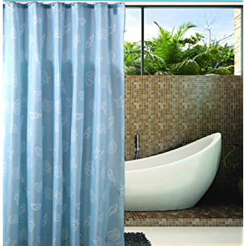 Amazon Com Extra Long Hookless Shower Curtain 80 Inch By 88