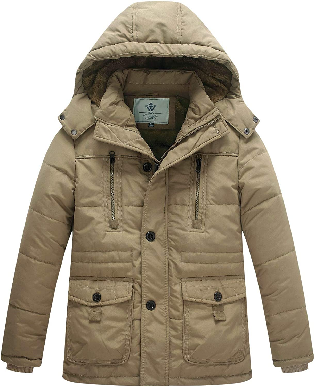 latest SALENEW very popular WenVen Boy's Winter Warm Padded Coat Hooded Thicken Puffer Parka