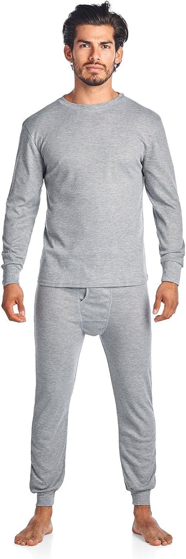 Casual Nights Men's Wicking Thermal Underwear Top & Bottom PJ Set
