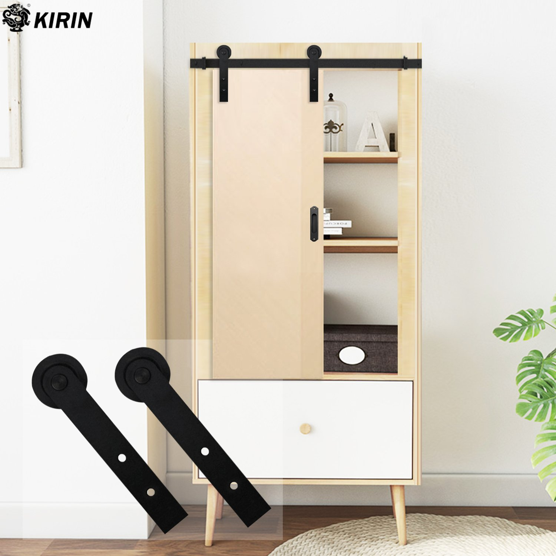 Kit de riel de puerta corredera de 152 cm con rodillos en forma de ...