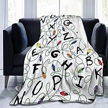 "Throw Blanket, Luxury Cozy Fleece Blanket, Warm Super Soft Comfort Caring 50"" x 60"", Stranger Letter Things White"