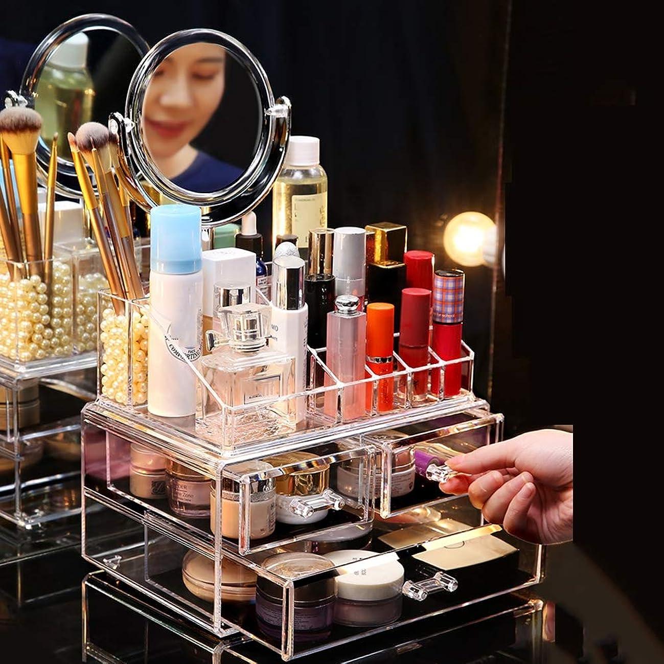 階下に対応する織る化粧オーガナイザー化粧品のオルガナイザーの調節可能な多機能の化粧品の収納箱、大容量の宝石類の化粧品の収納ディスプレイボックス