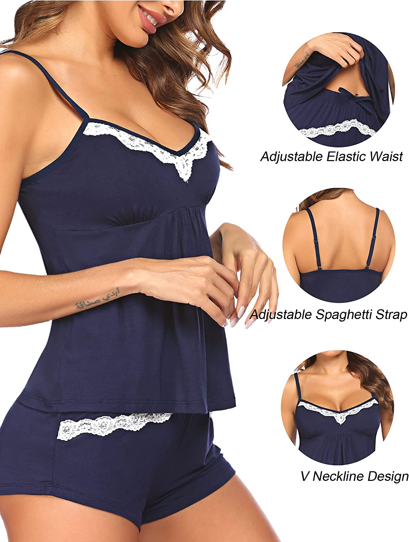 Avidlove Womens Cami Pajama Set Sexy Nightgown Sleepwear Lingerie Short Sets