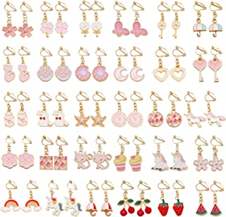 SOTOGO 16 Pairs Clip On Earrings for Little Girls and Women