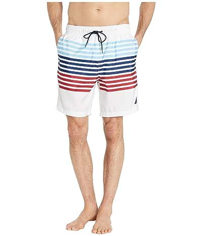 Nautica Stripe Swim Trunk (White) Men