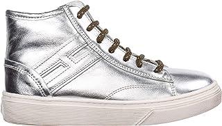Hogan Sneakers Alte J340 Bambino Argento