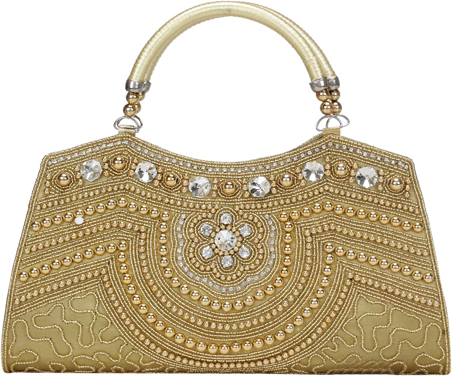 Baeutifully Designed Indian Bridal Clutch Wedding Party Clutches for Women & Girlsgolden color